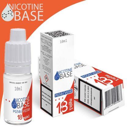 10ml Nikotin Base PG50/VG50